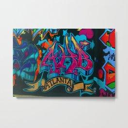 ATL Graffiti Metal Print