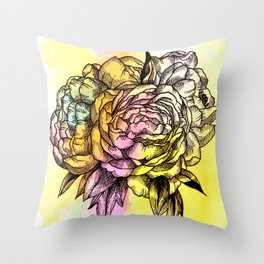 Plant Series: Peony Throw Pillow