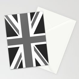 UK Flag - High Quality Authentic 1:2 scale in Grayscale Stationery Cards