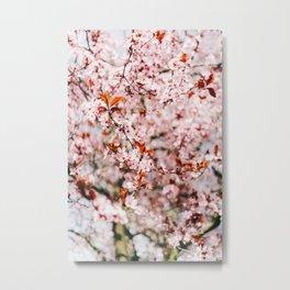 Pink Floral Tree (Color) Metal Print