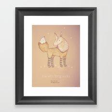 Christmas creatures- Fox with long socks Framed Art Print