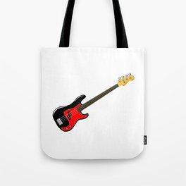 Fretless Bass Guitar Tote Bag