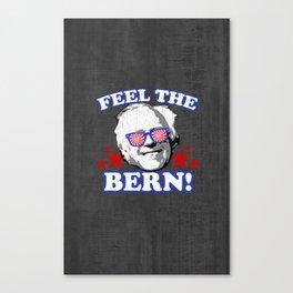 Feel the BERN! (vintage distressed look) Canvas Print