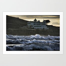 Stormy Burgh Island Hotel Art Print