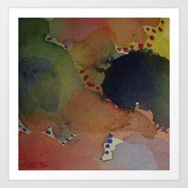 Watercolor Abstract Mini Series #1 Art Print