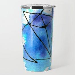 Origami: Fox (blue) Travel Mug