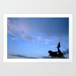 Sky chariot Art Print