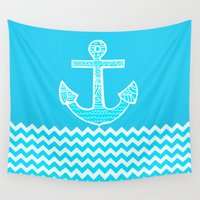 anchor Wall Tapestries featuring Anchor by haroulita