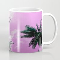 palm trees Mugs featuring Palm trees by Nicklas Gustafsson