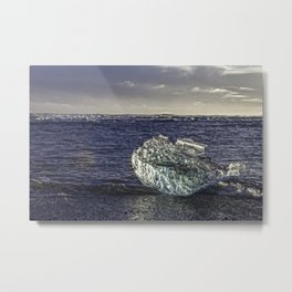 Jokulsarlon Lagoon Beach 02 Metal Print