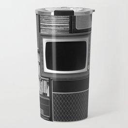 Everything Retro (Black and White) Travel Mug