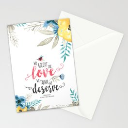 Chbosky - We Accept The Love We Think We Deserve Stationery Cards