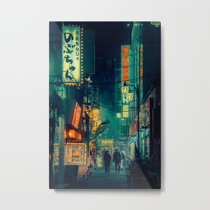 Tokyo Nights / Memories of Green / Blade Runner Vibes / Cyberpunk / Liam Wong Metal Print
