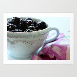 Blackberry Breakfast Art Print