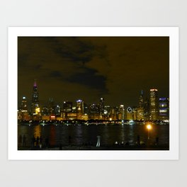 Chicago Skyline - Dark (Sept. 27) Art Print