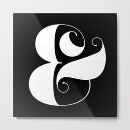 Inverse Ampersand Metal Print