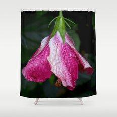 Rain Drops On A Hibiscus Shower Curtain