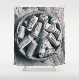 Collection of Corks. Shower Curtain