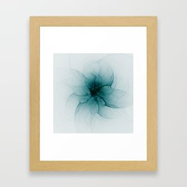 Dark Flower Fractal Framed Art Print