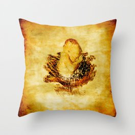 The baby and cabbages flower Throw Pillow