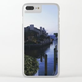 Sunset on the Canal Clear iPhone Case
