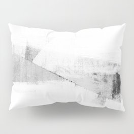 Grey and White Minimalist Geometric Abstract Pillow Sham