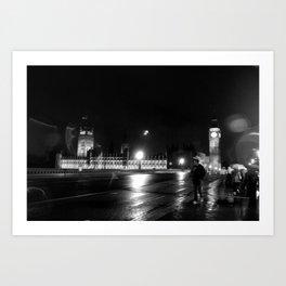 Big Ben - Rain Art Print