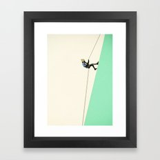 Descent Framed Art Print
