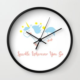 Sparkling Unicorn Wall Clock