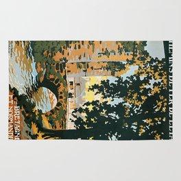Bretagne et Normandie, French Travel Poster Rug