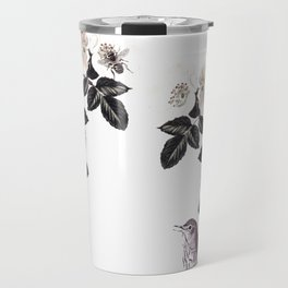 Blackberry Spring Garden - Birds Bees and Flowers Travel Mug