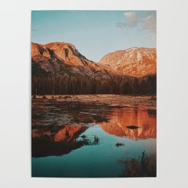 reflection in gold Poster
