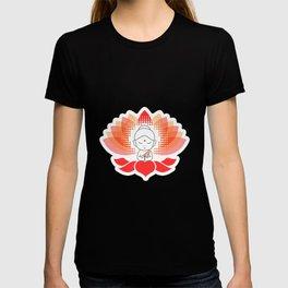 Cute Buddha on a sacred lotus T-shirt
