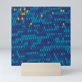 Mermaid texture Mini Art Print