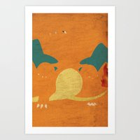 charizard Art Prints featuring Charizard by JHTY