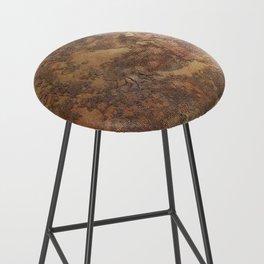 N47 - Golden Antique Rustic & Farmhouse Vintage Texture Bar Stool