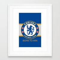 chelsea fc Framed Art Prints featuring Chelsea by DeBUM