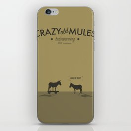 Crazy old Mule / Mule of Troy iPhone Skin