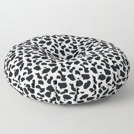 BLACK AND WHITE Print Floor Pillow