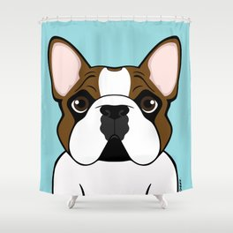 Frenchie - Fawn Pied Shower Curtain
