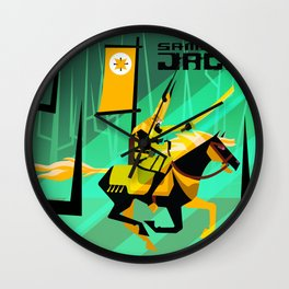 Last Ride of Samurai Jack (Gold) Wall Clock