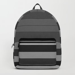 Black and Gray Stripes Backpack