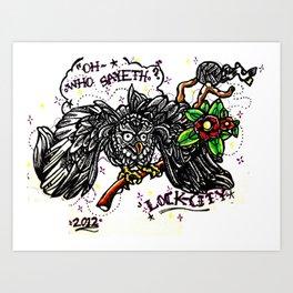 The Owl/The Snake Art Print
