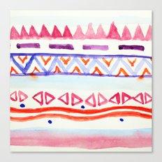 Watercolour Aztec Canvas Print