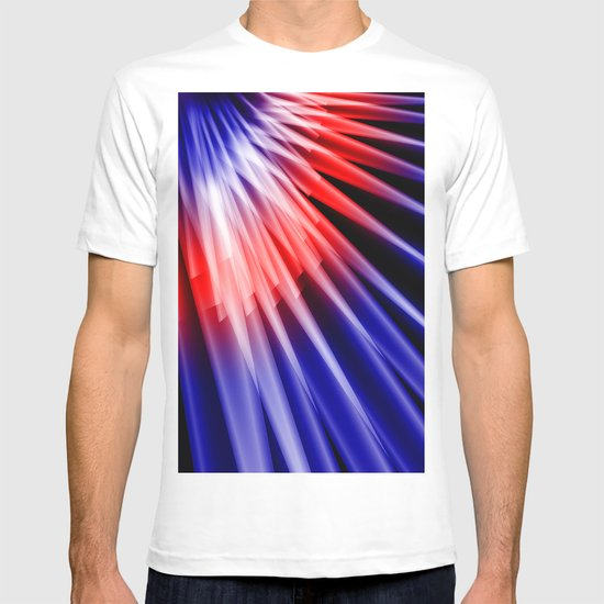 Red blue abstract T-shirt
