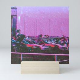 Cyberpunk 80's Parking Aesthetic Mini Art Print