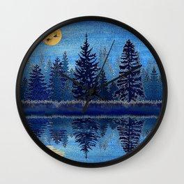Denim Design Pine Barrens Reflection Wall Clock