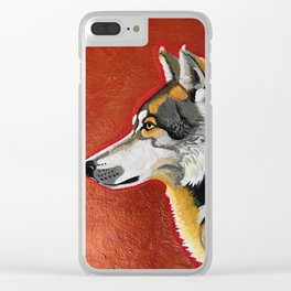 Wolf and Copper Clear iPhone Case