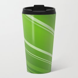 Colour Flash Green Metal Travel Mug
