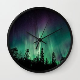 Aurora Borealis (Heavenly Northern Lights) Wall Clock